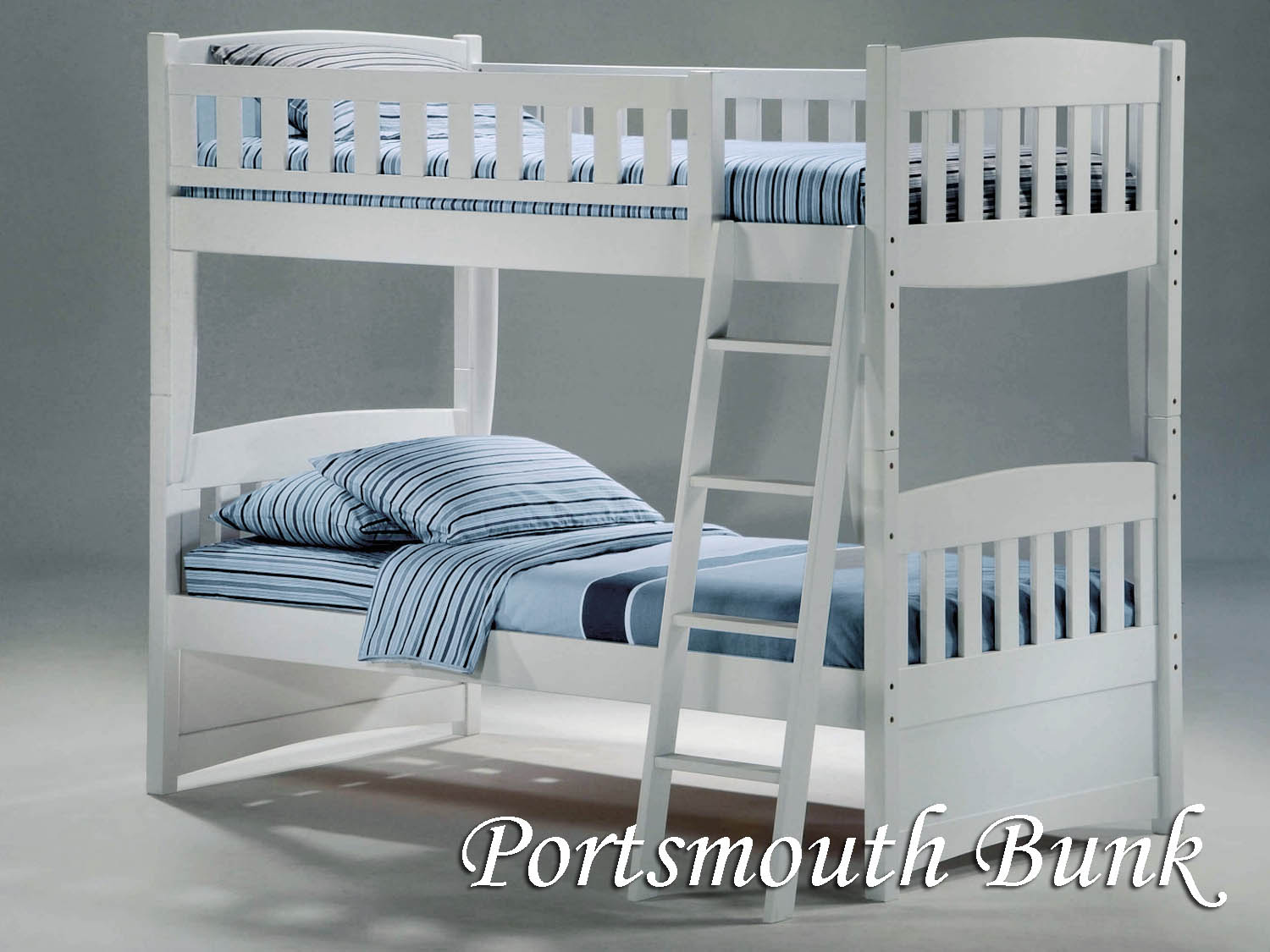 Barbo's Furniture, Portsmouth Bunk, Bed, Bedroom, Kids, Guest, Cape Cod, Coastal, Seaside, Casual, Cottage, Painted, White, twin
