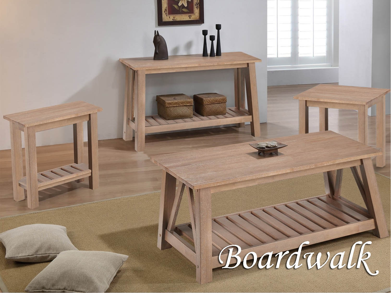 Barbo's Furniture, Boardwalk, Living room, Family Room, Den, Occasional, Cape Cod, Coastal, Seaside, Casual, Natural, Cocktail, Coffee, End, Chairside, Sofa, Table
