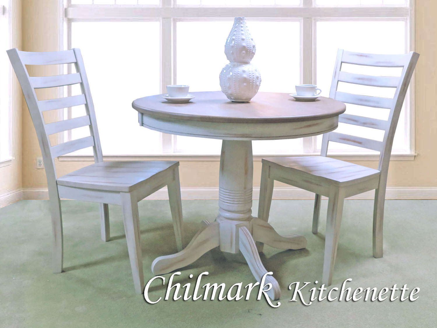 Barbo's Furniture, Chilmark, Kitchenette, Dining, Dining Room, Kitchen, Cape Cod, Coastal, Seaside, Cottage, Two-tone, White, Natural, Veneer, Casual, Table, Side, Chair