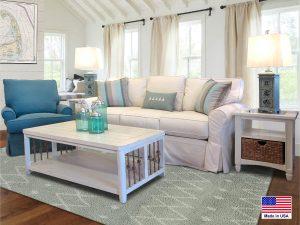 """Barbos Furniture - Topsider Sofa - Sofa 84""""L X 38""""D X 37""""H - Swivel Glider: 34""""W X 35""""D X 36""""H"""