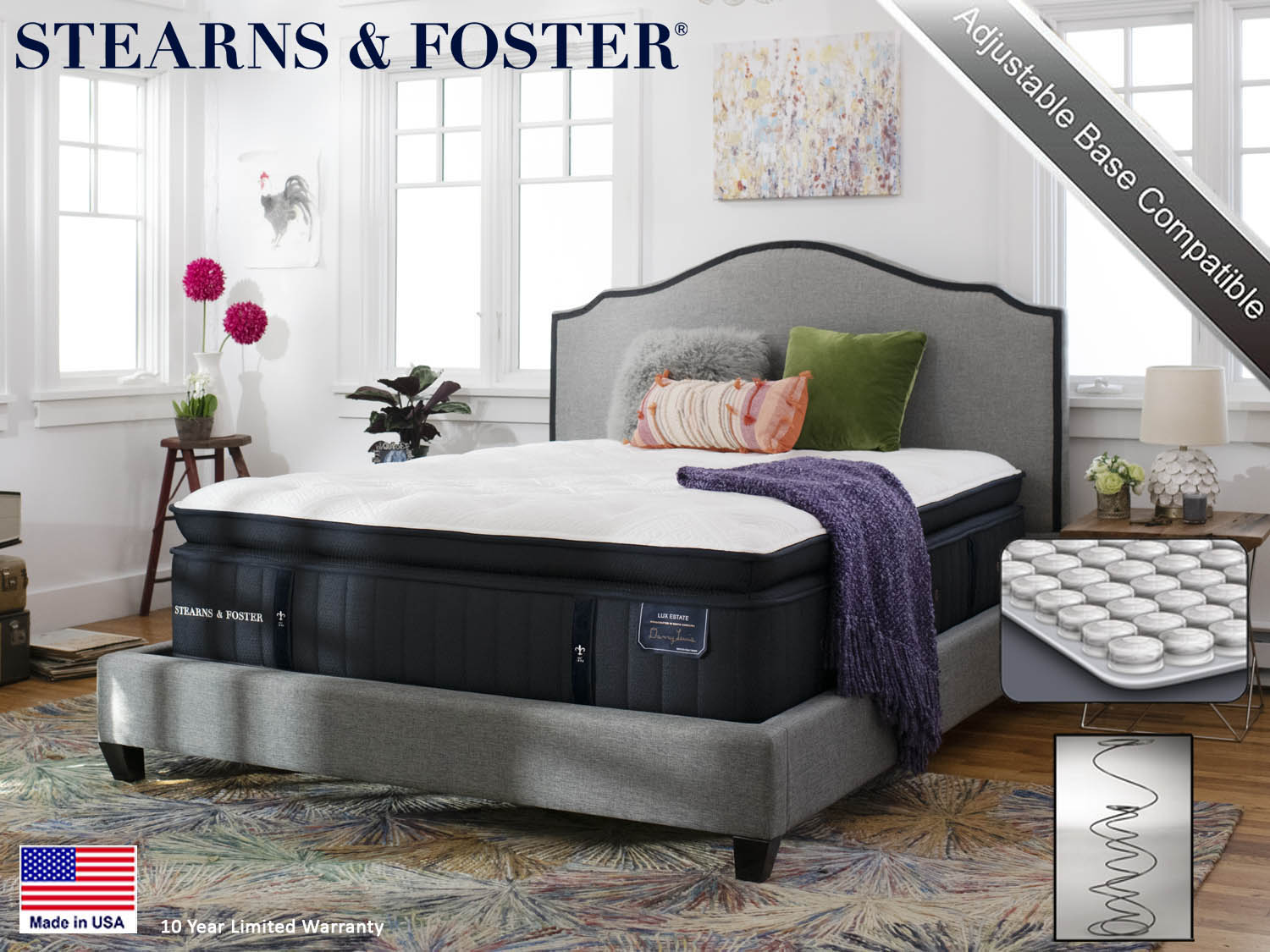 tearns & Foster, Cassatt FEPT, Firm Euro Pillow top, Lux Estate,Mattress, Mattresses, Sealy, Barbo's Furniture