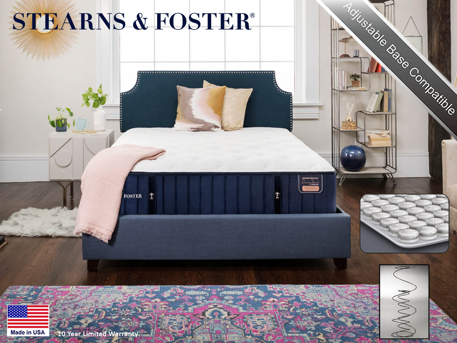 tearns & Foster, Hepburn PL, Luxury Plush, Reserve, Mattress, Mattresses, Sealy, Barbo's Furniture